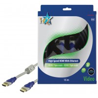 CABLE HDMI HIGH SPEED MALE 19P - MALE 19P HQ - 15m