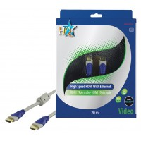 CABLE HDMI HIGH SPEED MALE 19P - MALE 19P HQ - 20m