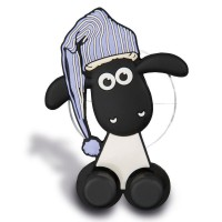 NICI - NICI 41483Shaun le mouton Porte Brosse à Dents avec Ventouse, 5x 7x 2,5cm, couleur : blanc/noir/bleu
