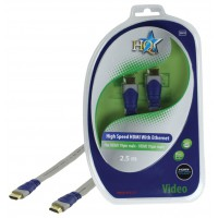 CABLE HDMI HIGH SPEED 19P MALE - 19P MALE PLAT HQ - 2.5m