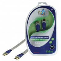 CABLE HDMI HIGH SPEED 19P MALE - 19P MALE PLAT HQ - 5m