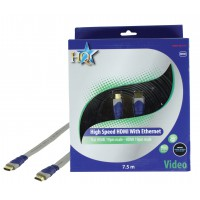 CABLE HDMI HIGH SPEED 19P MALE - 19P MALE PLAT HQ - 7.5m