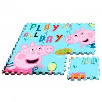 - Kids Peppa Pig alfombra-Puzzle EVA Sol 90x 90cm Multicolore (pp17004)