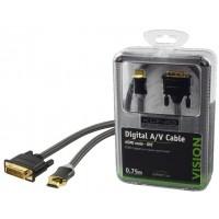 CABLE HDMI VERS DVI 0.75M KÖNIG