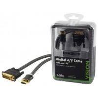 CABLE HDMI VERS DVI 1.5M KÖNIG