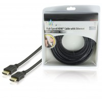 HQ High Speed HDMI® cable with Ethernet HDMI® Connector - HDMI® Connector 10.0 m