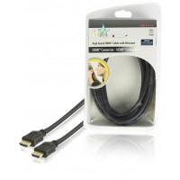 HQ High Speed HDMI® cable with Ethernet HDMI® Connector - HDMI® Connector 5.00 m