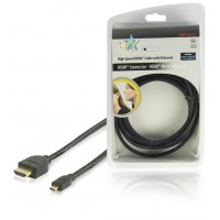 HQ High Speed HDMI® cable with Ethernet HDMI® Connector - HDMI® Micro Connector 2.50 m