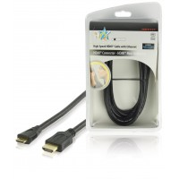 HQ High Speed HDMI® cable with Ethernet HDMI® Connector - HDMI® Mini Connector 2.50 m