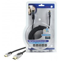 CABLE HDMI HIGH SPEED AVEC ETHERNET - 2.5m