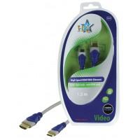 CABLE HDMI HIGH SPEED 19P MALE - MINI HDMI 19 MALE SILVER HQ - 1.5m