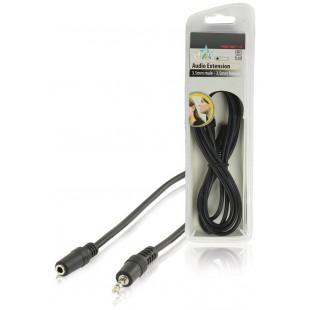 HQ câble audio stéréo 3.5mm mâle - 3.5mm femelle 1.50 m
