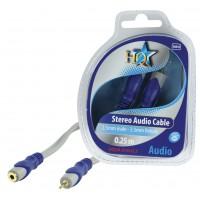 HQ câble 2.5mm stéréo mâle - 3.5mm stéréo femelle - 0.2m