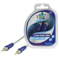 CABLE 3.5MM STEREO - 3.5MM STEREO SILVER HQ - 0.7m