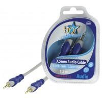 HQ câble 3.5 mm stéréo mâle - 3.5mm stéréo mâle - 1.5m