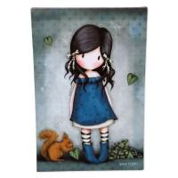 SANTORO LONDON - Gorjuss You Brought Me Love toile décoration toile tableau