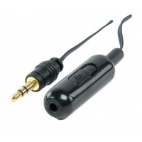 CABLE D'EXTENSION 3.5MM AVEC CONTROLE VOLUME 1.2 M