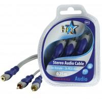 HQ câble 3.5mm stéréo femelle - 2x RCA mâles - 0.2m