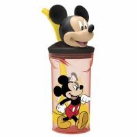 STOR - Figurine Disney Mickey 90 ans Gourde verre paille