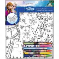 DISNEY - Puzzle + 6 crayons Disney