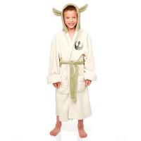 GROOVY - Peignoir en laine polaire pour enfants Star Wars Yoda