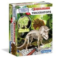 CLEMENTONI - Jeu d'archéologie fluorescente Triceratops