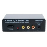 AMPLIFICATEUR DISTRIBUTEUR AV 1X4 SHINYBOW