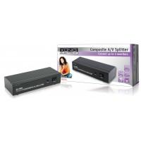 König répartiteur audio/vidéo composite 4 ports