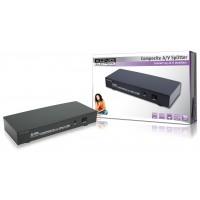 König répartiteur audio/vidéo composite 8 ports