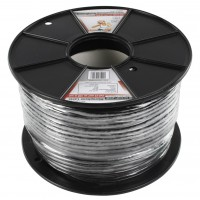 König flexible microphone cable 2x 0.25 mm² on reel 100 m black