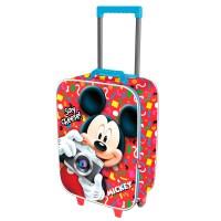 KARACTERMANIA - Valise trolley 3D Disney Mickey Say Cheese 2 roues 52cm