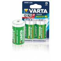 BATTERIES R20 POWER PLAY RECHARGEABLE VARTA