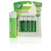HQ batteries AA Ni-MH 1.2 V 2700 mAh rechargeables