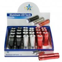 HQ présentoir de torches 3 LED aluminium