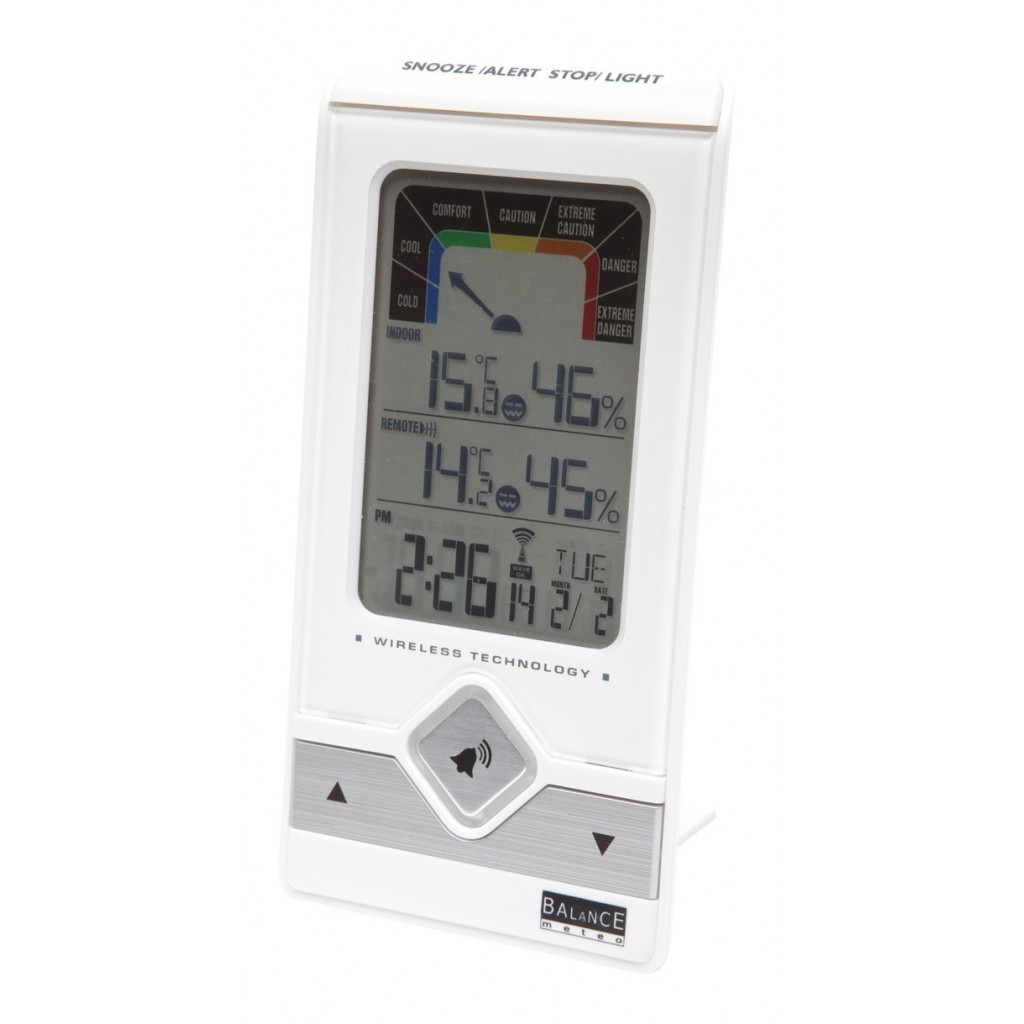 5500 station meteorologique balance horloge radiocommand e temp rature in - Temperature interieure maison ...