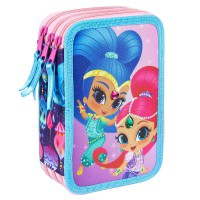 CERDA - Trousse à crayons triple Shimmer and Shine Giotto