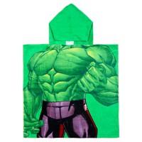 CERDA - Serviette de bain poncho en coton Marvel Avengers Hulk