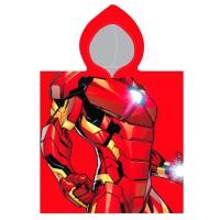 CERDA - Serviette de poncho en coton Marvel Avengers Iron Man