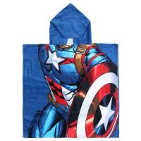 CERDA - Serviette de bain poncho en coton Captain America Marvel Avengers