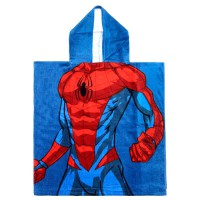 CERDA - Serviette Poncho en coton Marvel Spiderman