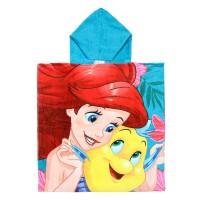CERDA - Serviette de poncho en coton Disney La Petite Sirène