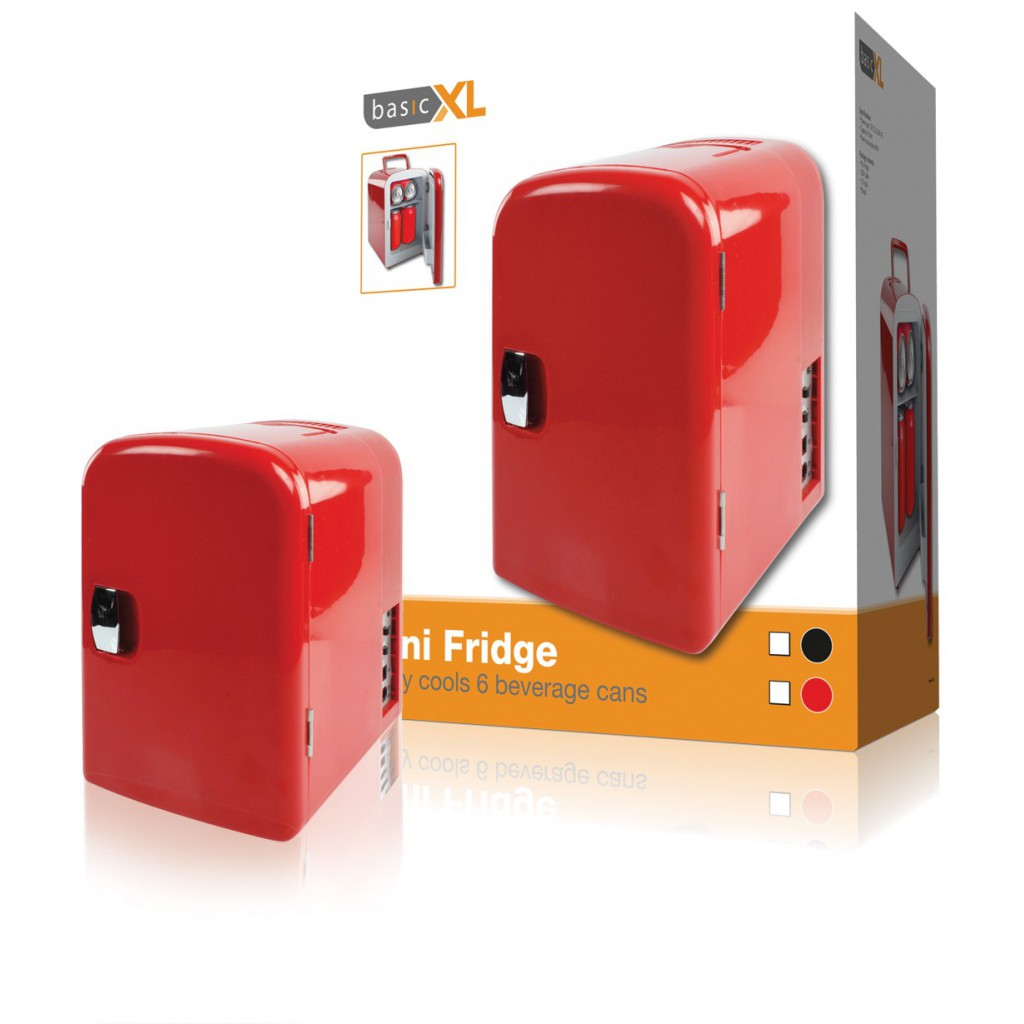 5902 basicxl mini frigo thermos 4 litres rouge gardez vos. Black Bedroom Furniture Sets. Home Design Ideas