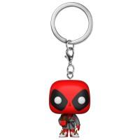 FUNKO - Porte-clés POP de poche Marvel Deadpool Bath Peignoir Exclusive