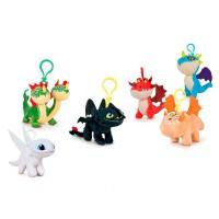 PLAY BY PLAY - Comment dresser votre dragon 3 porte-clés en peluche assorti 14cm