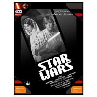 SD TOYS - Affiche en verre Star Wars Luke et Leia