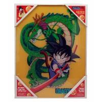 SD TOYS - Affiche en verre Dragon Ball Goku avec Shenron