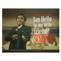 SD TOYS - Scarface Say Hello affiche en verre