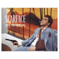 SD TOYS - Affiche en verre Scarface Tony Montana