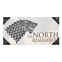 SD TOYS - Affiche en verre de Game of Thrones The North Remember
