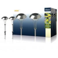 Ranex lot de 2 bornes de jardin LED solaires avec piquet IP44